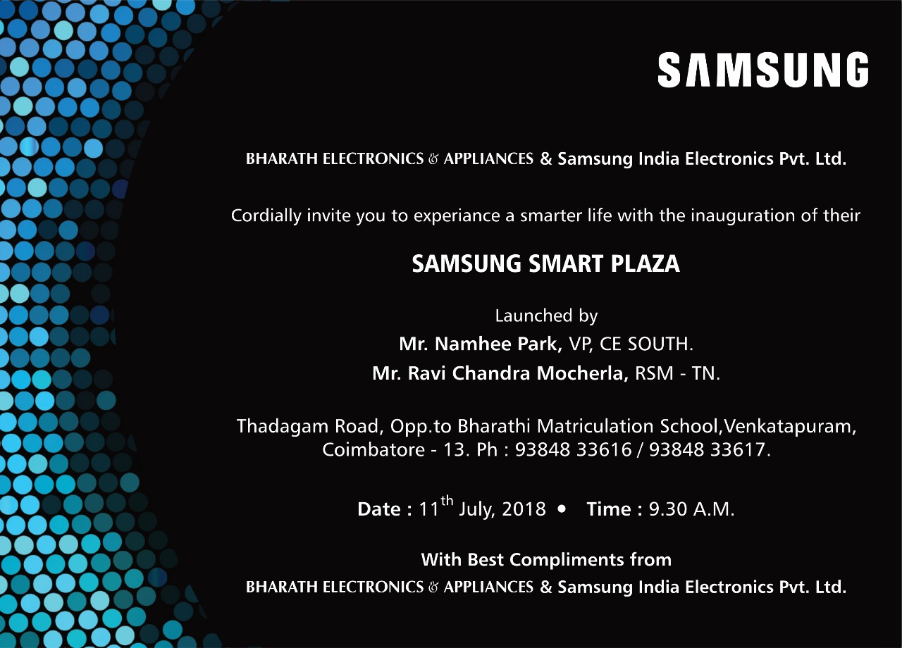 opening of Samsung Smart Plaza